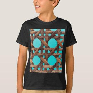 Camiseta Uma foto macro da cestaria de madeira velha