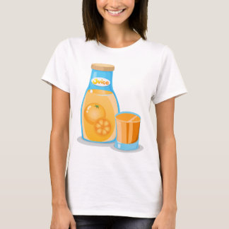 Camiseta Uma garrafa do sumo de laranja