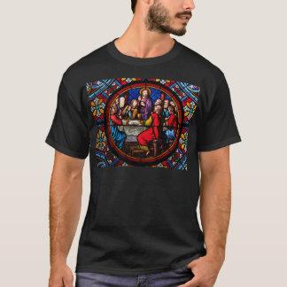Camiseta Uma imagem do vitral da última ceia