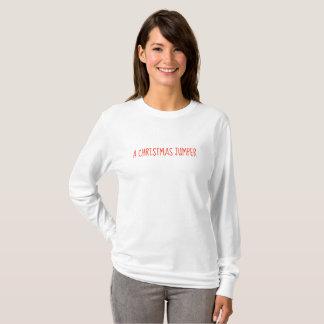 Camiseta Uma ligação em ponte do Natal