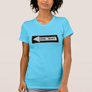 Camiseta Uma maneira (parte dianteira & parte traseira)
