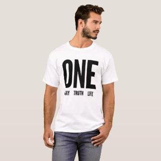 Camiseta Uma maneira, verdade, t-shirt da vida