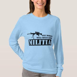 Camiseta Uma milícia bem regulamentado da mulher