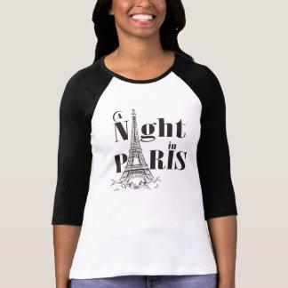 Camiseta Uma noite no t-shirt do Raglan de Paris