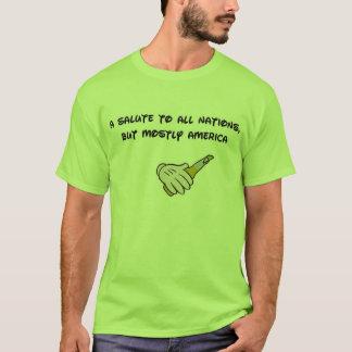 Camiseta Uma saudação a todas as nações