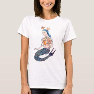 Camiseta Uma sereia e seu cavalo marinho