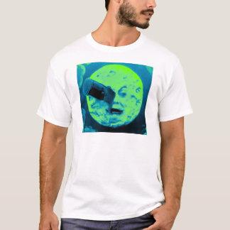 Camiseta Uma viagem à lua (Aqua Sci retro marinho Fi)