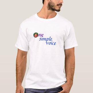 Camiseta Uma voz simples