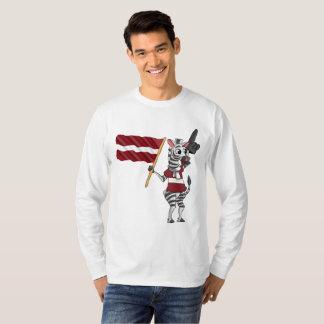 Camiseta Uma zebra letão