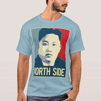 Camiseta Un de Kim Jong - lado norte - poster da propaganda