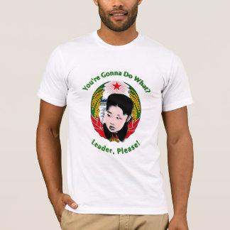 Camiseta Un de Krazy Kim Jong - líder, por favor!
