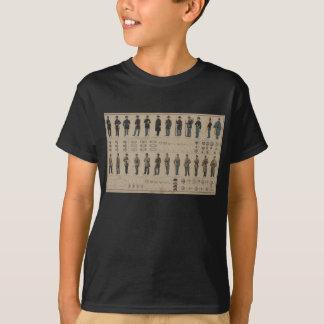 Camiseta União da guerra civil e uniformes dos soldados