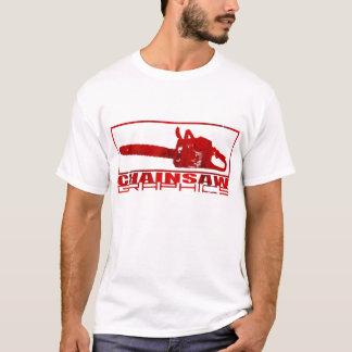 Camiseta Único logotipo dos gráficos da serra de cadeia