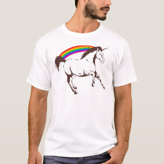 Camiseta Unicórnio com arco-íris