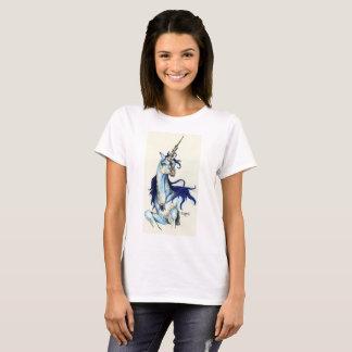 Camiseta Unicórnio com juba azul