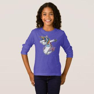 Camiseta Unicórnio de toque ligeiro bonito da sereia