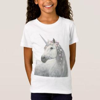 Camiseta Unicórnio do espírito com as flores na juba