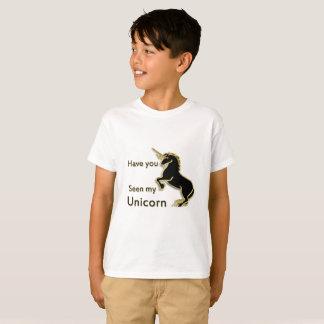 Camiseta Unicórnio mágico do conto de fadas do ouro