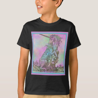 Camiseta Unicórnio medieval do arco-íris