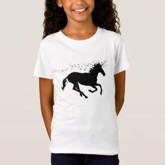 Camiseta Unicórnio preto com estrelas mágicas