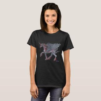 Camiseta Unicórnio voado listrado