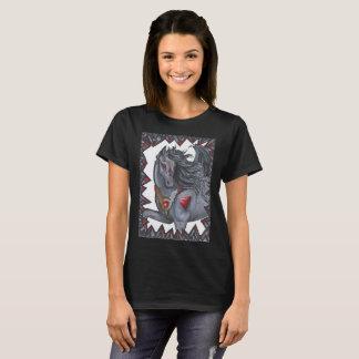 Camiseta Unicórnio voado preto