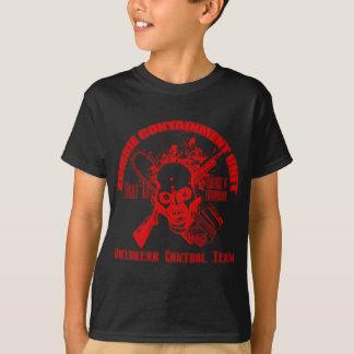 Camiseta Unidade da retenção do zombi - equipe do controle
