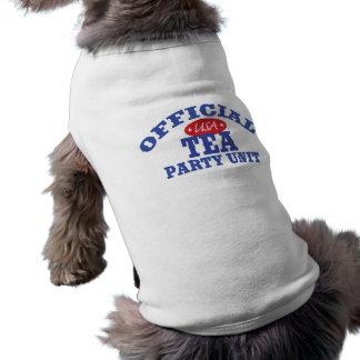 Camiseta Unidade oficial do tea party