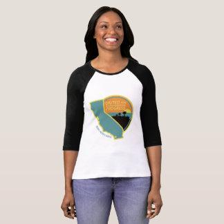 Camiseta Unido para o progresso - estilo do basebol das
