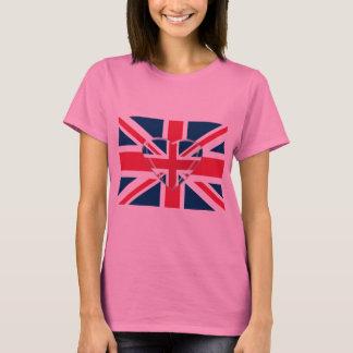 Camiseta Union Jack e arte do coração 3D