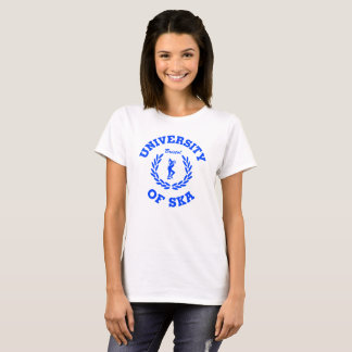 Camiseta Universidade das senhoras de Ska Bristol azuis