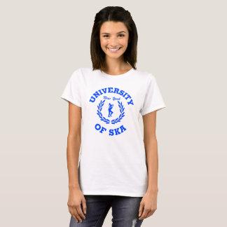 Camiseta Universidade das senhoras de Ska New York azuis