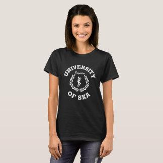Camiseta Universidade de Ska - design branco das senhoras