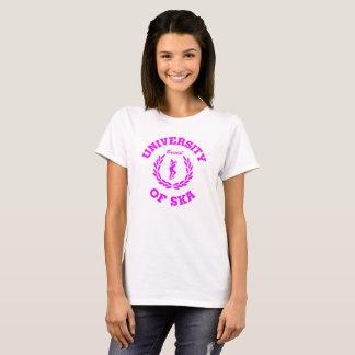 Camiseta Universidade do rosa das senhoras de Ska Bristol
