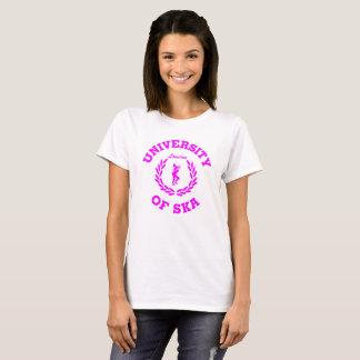 Camiseta Universidade do rosa das senhoras de Ska Londres