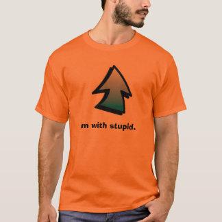 Camiseta UpArrow, Im com estúpido