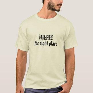 Camiseta URINA, o lugar direito