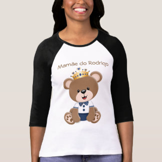 Camiseta Ursinho Príncipe Marrom