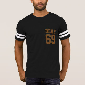 Camiseta Urso alegre muito legal 69 do divertimento do