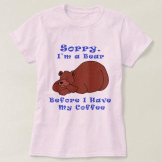 Camiseta Urso antes do café