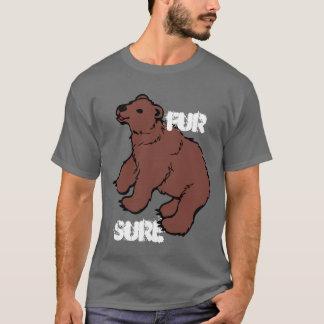 Camiseta Urso certo da pele engraçada