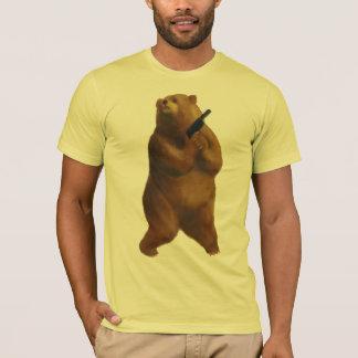 Camiseta Urso com uma arma Creepin