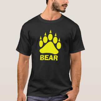 Camiseta Urso da garra de urso (Yelow brilhante)