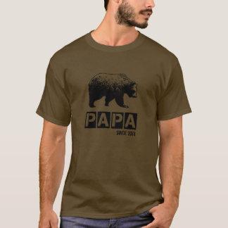Camiseta Urso da papá do Grunge desde o ano de paternidade,