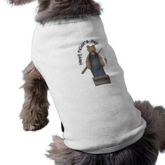 Camiseta Urso da pesca do dia dos pais