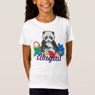 Camiseta Urso de panda bonito da praia