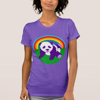 Camiseta Urso de panda bonito do arco-íris