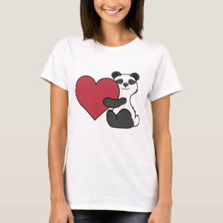 Camiseta Urso de panda bonito do dia dos namorados com