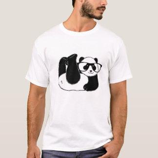 Camiseta Urso de panda bonito que veste vidros