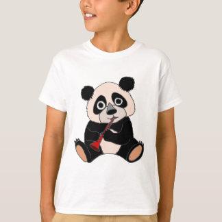 Camiseta Urso de panda engraçado que exerce o clarinete